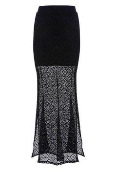 Vintage Mesh Crochet Skirt