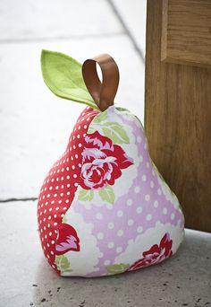 Patchwork Pear Doorstop