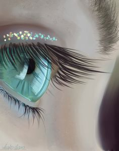 Eye practice 2 by =Anako-Kitsune on deviantART  Beautiful eye - digitally enhanced