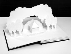 """Pop Up Book, created by Peter Dahmen  for the stage show """"The electric rise and fall of Nikola Tesla"""" by Marco Tempest"""