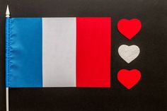 flag of france and hearts