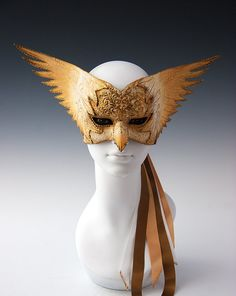 Golden Dove by TheArtOfTheMask on Etsy, $175.00