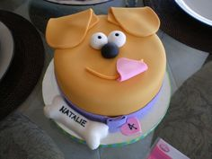 Puppy Face Birthday Cake I Made This For My Niece Natalie Who Requested A That Looked Like Dog