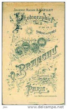 BRANCHU V., ex-Maison BATLLET - Paris