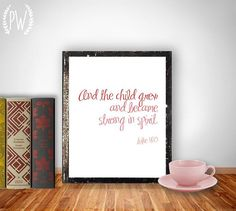 Nursery Bible verse Scripture printable by PrintableWisdom on Etsy, $5.00.  This Scripture would be great for a congratulations card for a new baby.  Add baby's name.