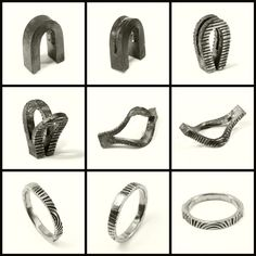 Rings forged from one piece of metal. Blind Spot Jewellery. Click through for more.