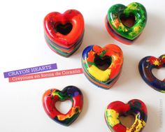Mami Talks™: Crayon Heart Valentines with instructions Valentines Day Party, Valentines For Kids, Valentine Day Crafts, Valentine Ideas, Melted Crayon Heart, Fun Crafts, Crafts For Kids, Succulent Favors, Kid Party Favors