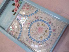 Wall Art Washboard Mosaic handmade clay roses handmade mosaic shabby cottage chic on Handmade Artists' Shop