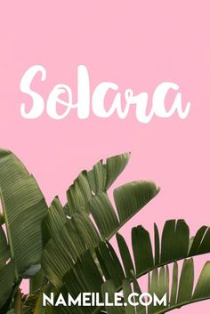 Solara I Cool & Unique Baby Names for Girls I Nameille.com