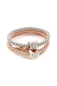 Dearest Love Bracelet in Tri-Tone