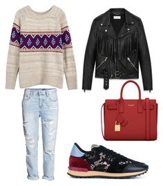 """Untitled #979"" by mala-palcica ❤ liked on Polyvore featuring Yves Saint Laurent, H&M, Valentino, women's clothing, women, female, woman, misses and juniors"