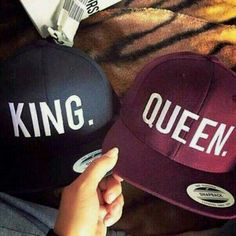hat queen king and queen baseball cap matching couples couple love mrs. cap couple snapback blue violet boyfriend girlfriend red king hat king queen hats couples hat hair accessory king queen black with white letters red black mens cap cape Matching Couple Outfits, Matching Couples, Cute Couples, Black Love Couples, Couples Images, Paar Style, Queen Hat, King Queen, King King