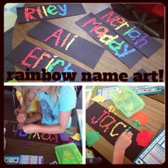 Teacher Bits and Bobs: rainbow names. Might be good for beginning of school activity.