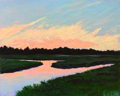 Shem Creek Clouds | Elise Nuckols Art | Charleston, SC