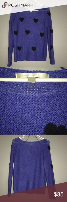 Lauren Conrad Heart Sweater This adorable sweater has been worn maybe one time. It was purchased from Kohl's. LC Lauren Conrad Sweaters