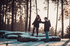 #engagement #photo #shoot #winter #wood #forest #love #story #mywork #nikon #d800 #house #snow #winterlove #lovestory
