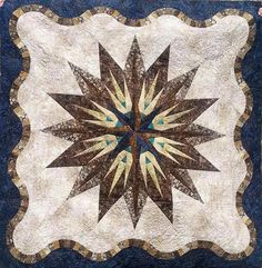 Vintage Compass, Quiltworx.com, Made by CI Victoria Johnson.