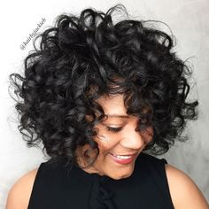 More click [.] Stylist Naturally Curly Haircut Ideas Must Try Ideas That Voluminous Naturally Curly Bob Hairstyle 60 Most Delightful Short Wavy Hairstyles Curly Hair Styles, Curly Hair Cuts, Curly Bob Hairstyles, Easy Hairstyles, Natural Hair Styles, Short Haircuts, Beautiful Hairstyles, Black Hairstyles, Hairstyle Ideas