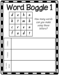 Scrabble Tiles spelling or word work activity to print from ...