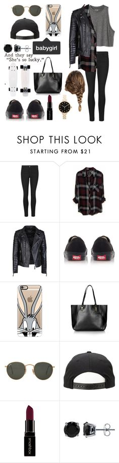 """Skaters look?"" by aamevl on Polyvore featuring Indigo Collection, Rails, Vans, Casetify, Topshop, Ray-Ban, Smashbox, BERRICLE, Marc by Marc Jacobs and women's clothing"