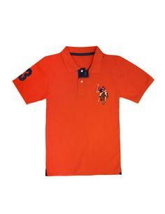 Boy's Multi Color Big Logo Polo Shirt