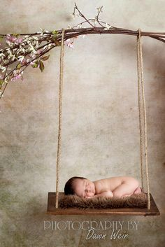 Wood Newborn Swing Prop by UrbanSeedCustomProps on Etsy
