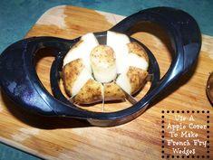 een appel-verdeler kan dus ook voor aardappelpartjes en champignons