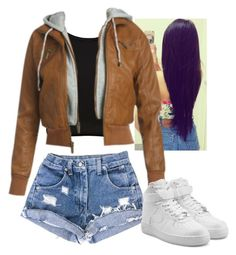 """""""Didn't feel like adding more items"""" by arii-bankss ❤ liked on Polyvore featuring River Island, Wet Seal and NIKE"""