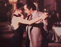 Still from scent of a woman ... A blind Al Pacino does an impromptu Tango with a beautiful lady !