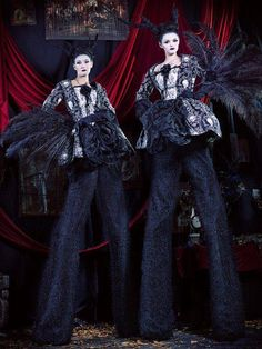 Gothic Mansion Stilt Walkers