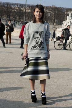 Paris Fashion Week Street Style Fall 2013: Miroslava Duma