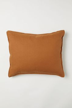 Washed linen pillowcase - Light brown - Home All | H&M GB 1