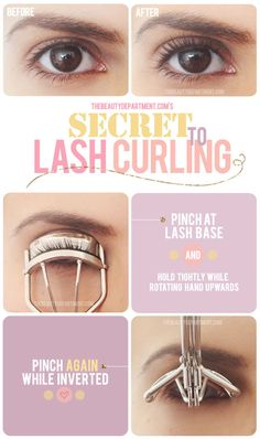 Tip for curling your lashes: invert the curler. Have to try this.