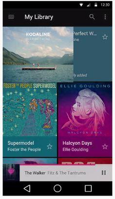 Google Material Design: Music / ?