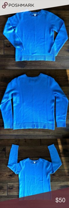 100% Cashmere Crewneck Sweater This soft, cozy cashmere sweater is from GAP, purchased a year or two ago. The color is a beautiful light blue, and the sweater is in excellent condition, with no noticeable pilling, holes or other flaws.   100% cashmere  Crew neck Notched back hem  All of my items come from a smoke-free, pet-free home. I ship daily! Enjoy! GAP Sweaters Crew & Scoop Necks
