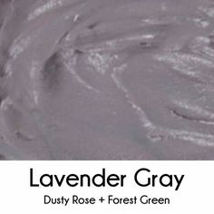 Lavender gray frosting