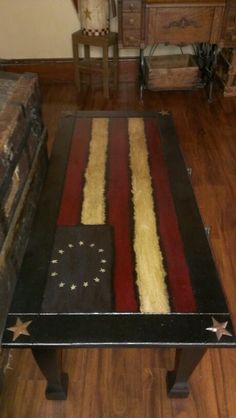 A coffee table I redid in Americana...