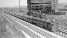 B&O Passenger Trains   Train #2, The Abraham Lincoln. Photographed: Chicago, Ill., July 25 ...