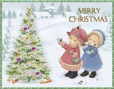 Grote animatie van een kerstboom