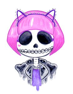 Notorious feminist skeleton illustration by arkolina