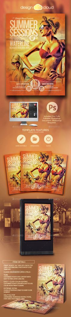 Web App Solution Flyer Template Flyer template, Template and App - advertisement flyer template