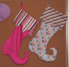 elf stockings pattern and tutorial for next year