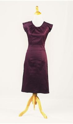 Pin Tucked Eggplant Dress - @Kaylahn Starke What do you think of this one?