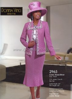 Knit Church Suits by Donna Vinci for Spring 2014 - www.expressurway.com, Donna Vinci, Church Suits, Womens Church Suits, Church Suits by Donna Vinci, Spring 2014