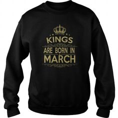 Awesome Tee KING ARE BORN IN MARCH T-Shirts