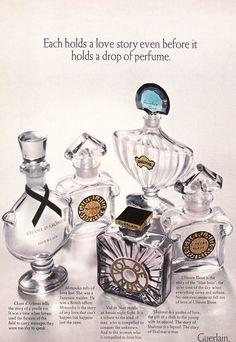 1970 Guerlain Shalimar Mitsouko L'Heure etc perfume empty bottles photo print ad Perfume Ad, Perfume Atomizer, Perfume Bottles, Perfume Fragrance, Empty Bottles, Vintage Perfume, Retro Advertising, Print Ads, Vintage Beauty