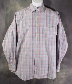 Vineyard Vines Burgee Shirt Men's Large 100% Cotton Checkered Plaid Multi-Color #VineyardVines #ButtonFront