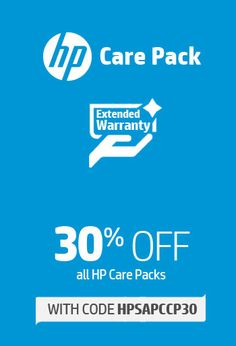 30% off all HP Care Packs