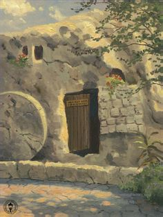 The Garden Tomb. Painted by Thomas Kinkade. http://www.thomaskinkade.com/magi/servlet/com.asucon.ebiz.catalog.web.tk.CatalogServlet?catalogAction=Product&productId=204523&menuNdx=0