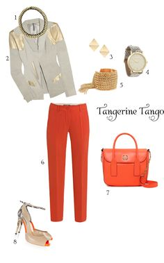 Lovin this tangerine outfit!